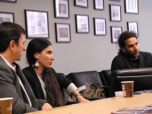 Cuban bloggers Yoani Sanchez and Orlando Luis Pardo Lazo visit the U.S. State Department and White House to discuss military relations between Cuba and the U.S.