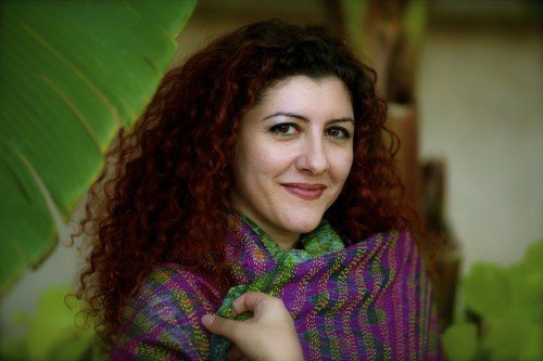 """<a href=""""http://www.sampsoniaway.org/features/2013/02/11/hind-shoufani-unsanctioned-writing-from-the-middle-east/"""">Hind Shoufani</a>, Palestinian poet."""