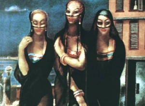 Detail of Egyptian painter Mahmoud Said's 'Banat Bahari' (Damsels of the Delta). Photo: Courtesy of Hamdy el-Gazar.