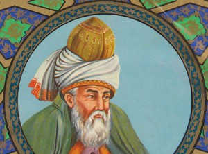 A painting of thirteenth century poet, Rumi. Photo: Wikimedia Commons.