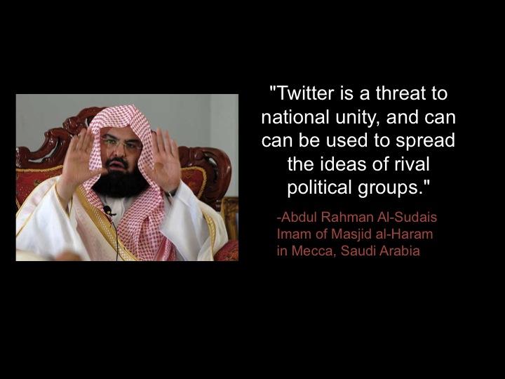"<a href=""http://www.ibtimes.com/saudi-arabia-condemns-twitter-users-hell-happy-thursday-you-too-internet-1264029"">""Saudi Arabia Condemns Twitter Users To Hell,"" <em>IBTimes</em>, 2013"