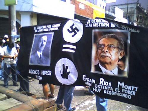 General Efraín Ríos Montt Genocide Protest
