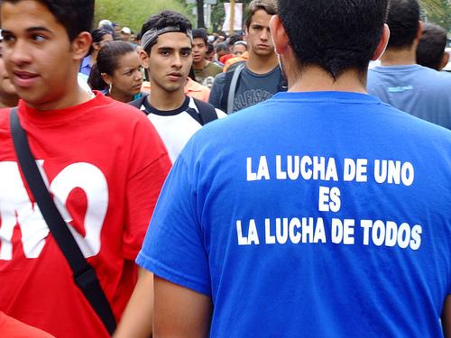 March in Caracas, Venezuela