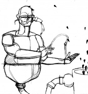 Luis Trapaga drawing