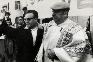 Neruda (right) with President Allende Photo: Biblioteca del Congreso Nacional de Chile
