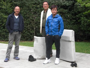 Head of the Rice Delivery Party, Ye Fu, and friends. Photo courtesy of Tienchi Martin-Liao