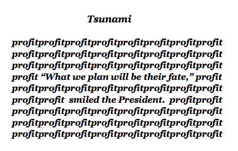 Tsunami a Visual Poem