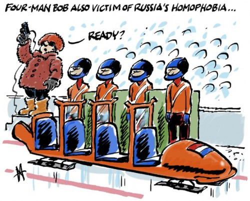 Cartoon: Sports and Russian Homophobia
