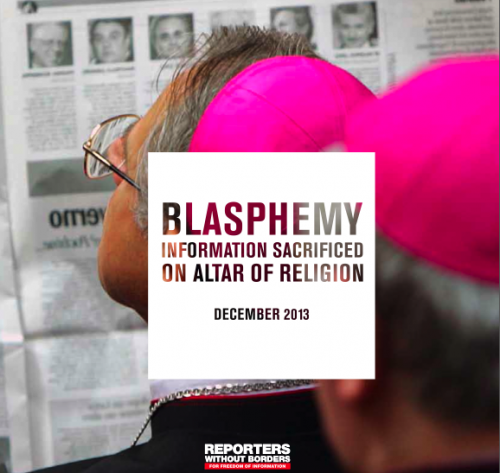 RSF Blasphemy Report Cover