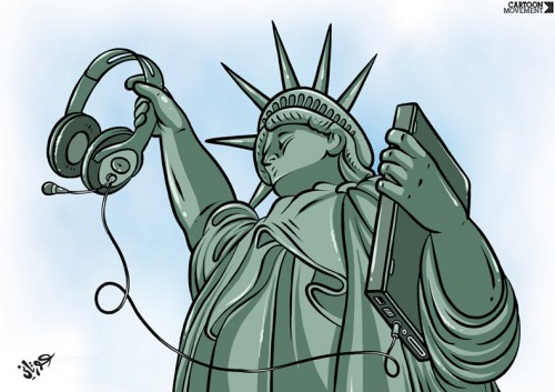 Cartoon: New Liberty