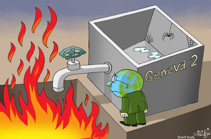 Cartoon: Syria- Geneva 2 Talks