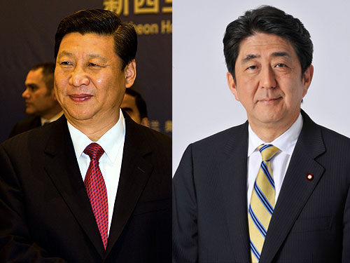 Xi Jinping and Sinzo Abe