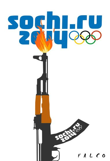 Cartoon: Sochi Torch