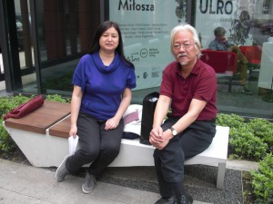Ms. Li Jianhong is pictured here with the Chinese poet Duoduo at the PEN-conference in Krakau, Polen in May 2013.  Photo courtesy of Li Jianhong.