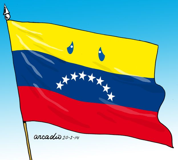 Cartoon- Venezuela, sad reality