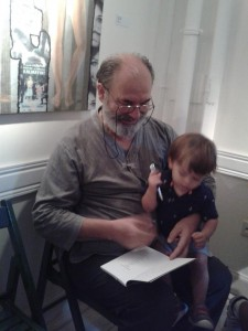 Tarık Günersel with his grandson