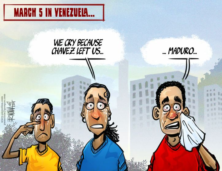 Cartoon: March 5 in Venezuela...