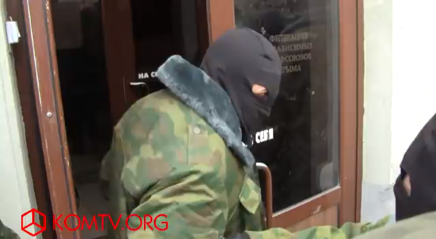 Institute for Investigative Journalism in Crimea occupied by masked men.