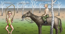 Cartoon: Snowden in the Taiga Tanga