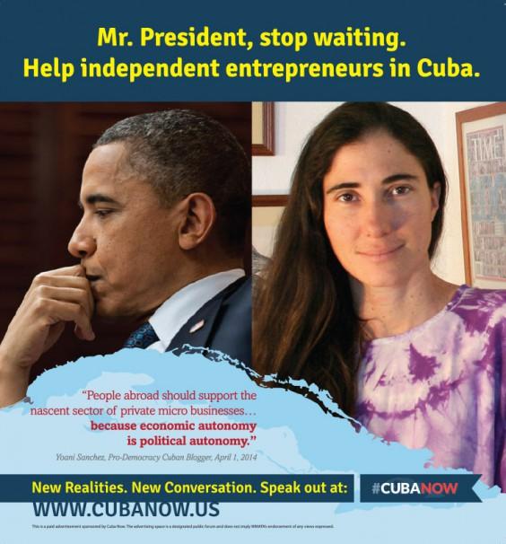 #Cubanow advertisement
