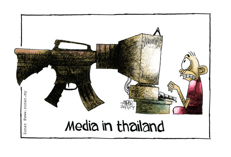 Cartoon: Media in Thailand