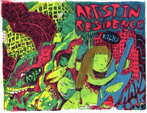 AS220 poster advertising artist residencies. Credit: AS220