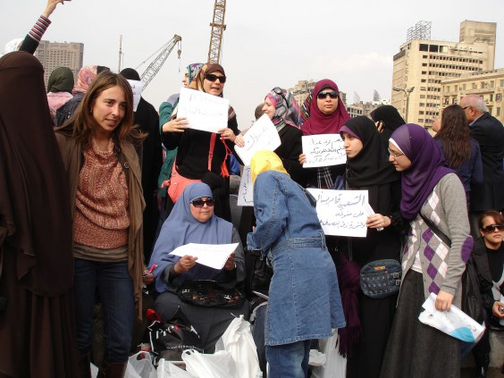 Egyptian Women Against Mubarak