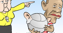 Cartoon: Red Card