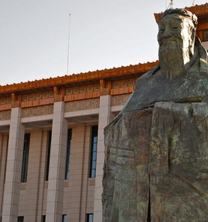 The Confucius statue that appeared, then disappeared, in Tiananmen Square. Photo via Flickr user: Remko Tanis