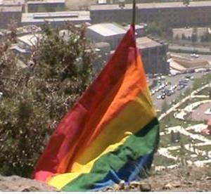 LGBT Flag on Baam e-Tehran. Photo: LGFOnline, Creative Commons.