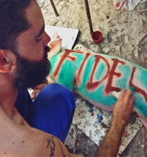 Cuban artist El Sexto is in jail. Photo provided by the author.
