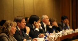 The 2010 UPR Delegation listens to a question. Photo via Flickr user: United States Mission Geneva.