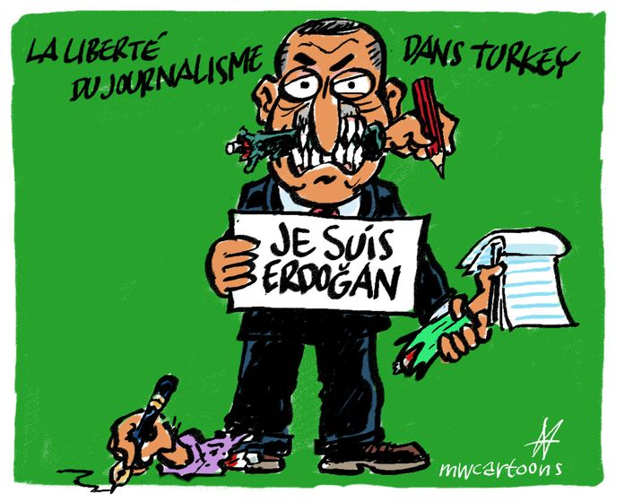Cartoon Je Suis Erdogan Sampsonia Way Magazine