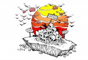 Intellect is migrating out of Baghdad. Cartoon republished with Mr. Murtadha's permission.