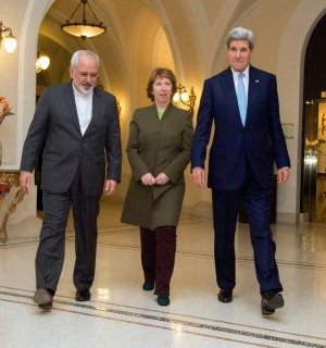 U.S. Secretary of State John Kerry, Baroness Catherine Ashton of the European Union, and Foreign Minister Javad Zarif of Iran. Photo courtesy of Flickr user U.S. Embassy Vienna.