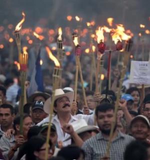 Protests in Honduras. Photo via Youtube.