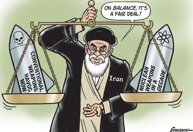 Image result for Iran Deal CARTOON