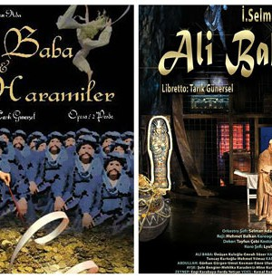 Posters of the opera Ali Baba & 40. Image provided by the author.