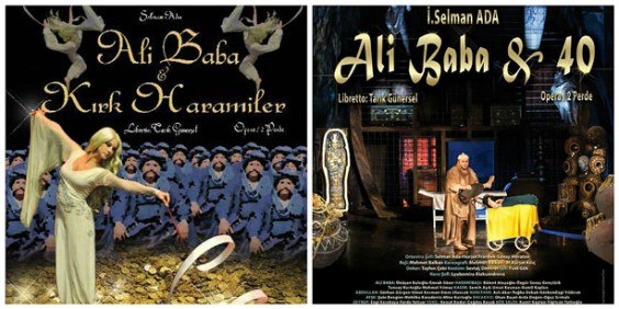 Posters of the opera Ali Baba & 40. Images provided by the author.