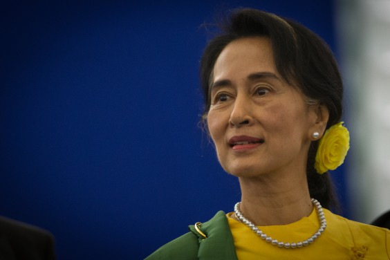 Opposition leader Aung San Suu Kyi. Photo via Wikimedia