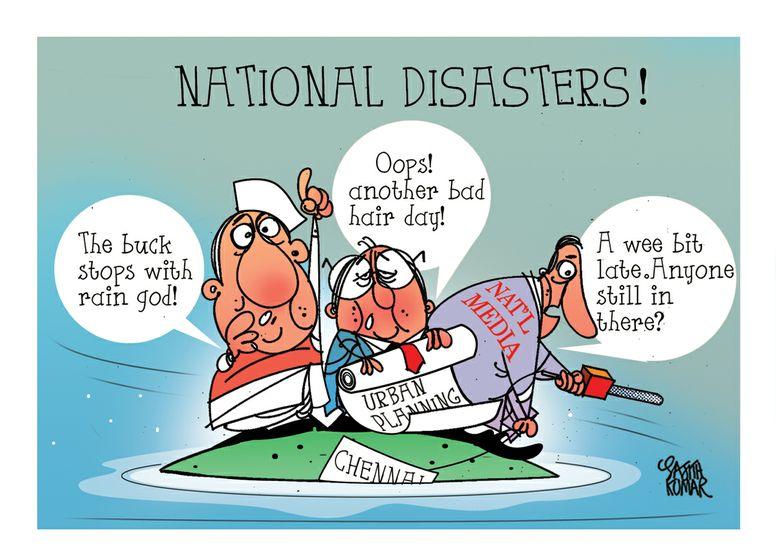 Cartoon Chennai Is Underwater Sampsonia Way Magazine