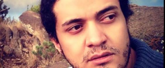 Palestinian refugee poet Ashraf Fayadh. Image via Facebook.