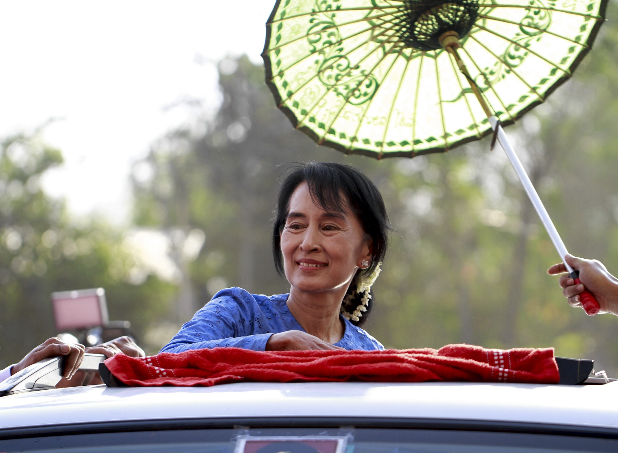 National League for Democracy leader Aung San Suu Kyi during the 2012 campaign in Burma. Image via Wikipedia Commons.