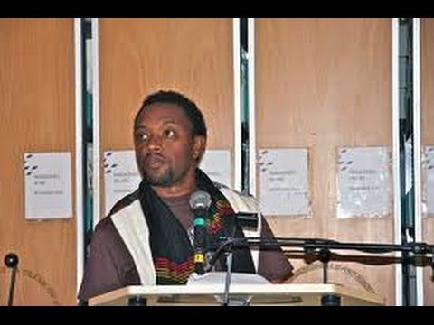 Ethiopian poet and essayist Bewketu Seyoum reciting his work. Image via Youtube user:   Yehabesha.com