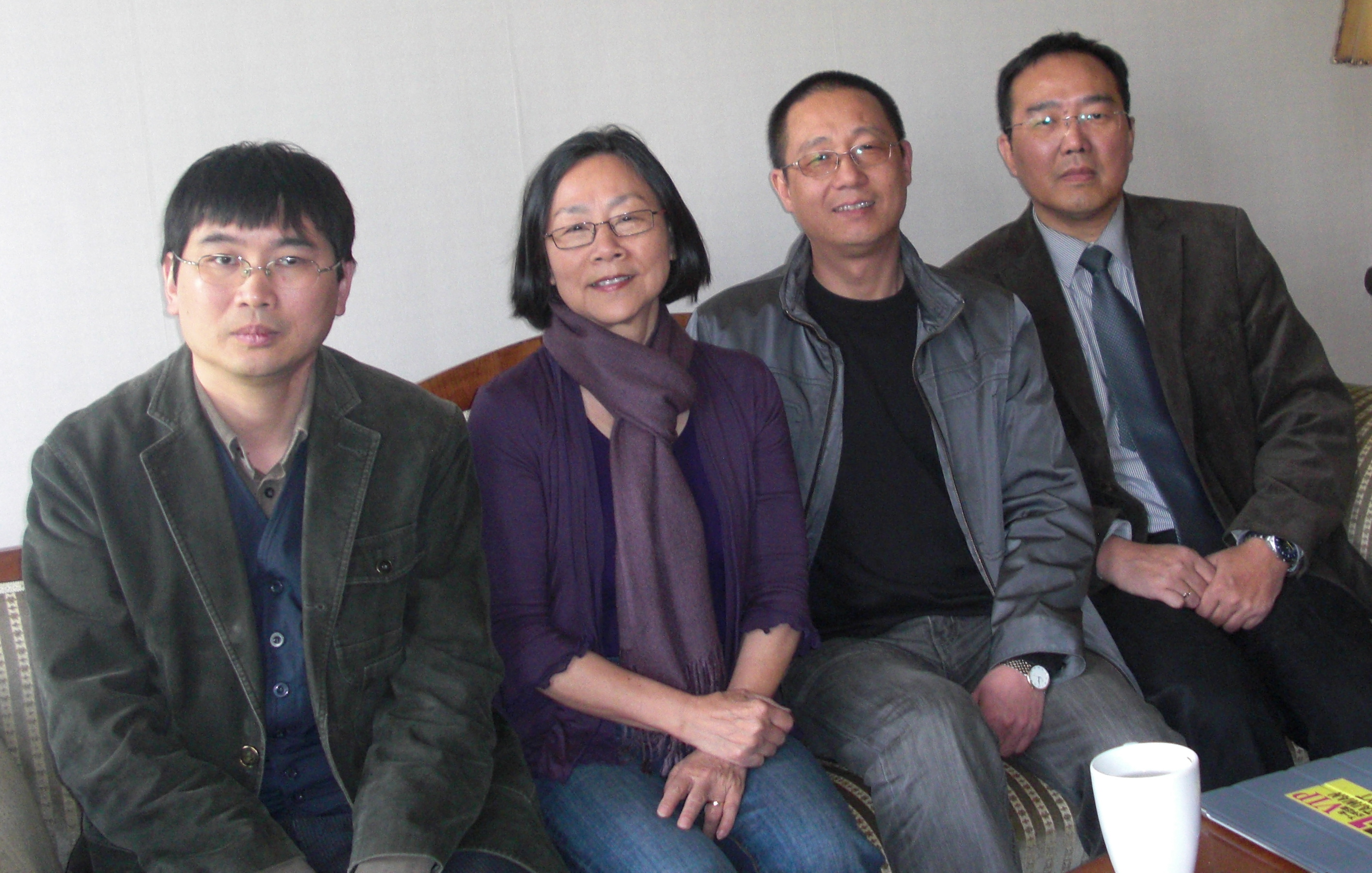 From left to right: Chang Ping, Tienchi Martin-Liao, writer Ye Fu, and a friend, in Amsterdam in 2012. Image courtesy of the author.