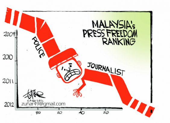 Cartoon-Malaysias-Press-Freedom-Ranking
