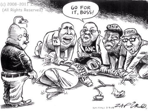 Jacob Zuma and Lady Justice