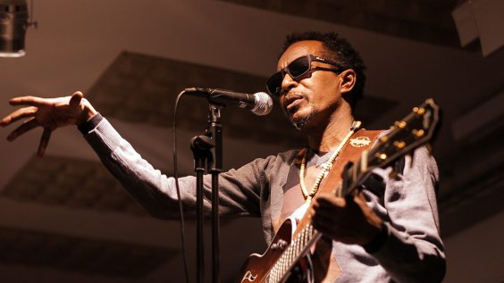 Sudanese musician Abazar Hamid. Image courtesy of the artist.