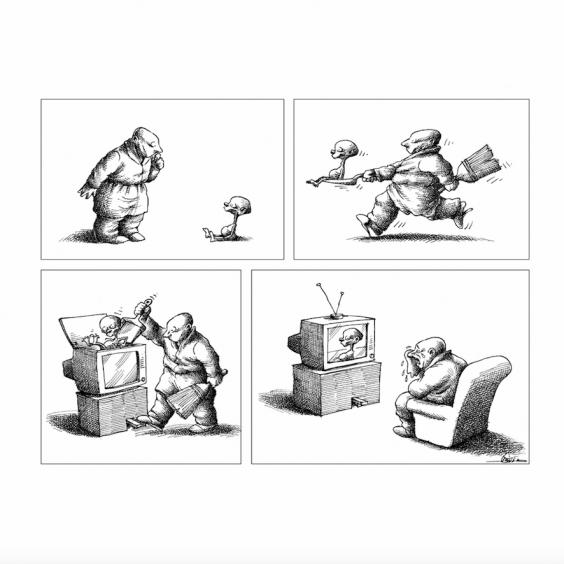 Tout va Bien by Mana Neyestani excerpt graphic novel Ca et La