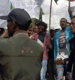 Oromo protesters in Ethiopia. Image via Flickr user: Gadaa.com